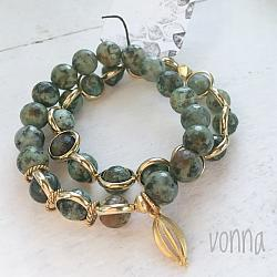 African Turquoise Double Stack